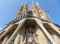 Sagrada familia detail barcelona spain amazing esterior details of church Royalty Free Stock Photo