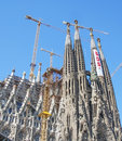 Sagrada Familia by Gaudi Royalty Free Stock Images