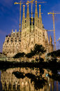 Sagrada Familia at night, Barcelona, Spain Royalty Free Stock Photo