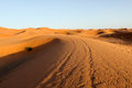 Sahara desert the on the border of morocco Stock Image