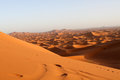 Sahara desert the on the border of morocco Stock Images