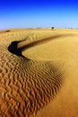 Sahara desert landscape with dunes. Tunisia. Royalty Free Stock Photo