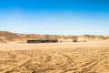 Sahara desert near Ong Jemel in Tozeur,Tunisia. Royalty Free Stock Photo