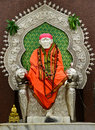 Sai baba statue of indian saint Stock Photography