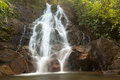 Sai Rung waterfall in the jungle Stock Images