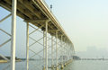 Sai van bridge in macao this is the world s largest double concrete span Stock Image