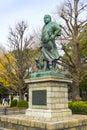 Saigo Takamori, the Last Samurai bronze statue monument in Ueno public park, Tokyo,Japan.
