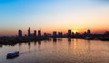 Saigon Skyline at sunset, Vietnam Royalty Free Stock Photo