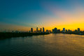 Saigon at sunset Royalty Free Stock Photo