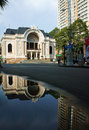 Saigon theatre, ancient opera house Royalty Free Stock Photo