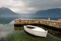 Sail boat in Kotor bay Montenegro Royalty Free Stock Photo