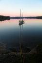 Sail Boat on Lake Royalty Free Stock Photo