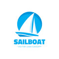 Sail boat - logo template concept illustration. Ship sign. Design element