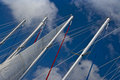 Sail boat masts  Stock Photos