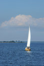 Sail boat on nice summer day Stock Image