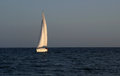 Sail boat at sunset Royalty Free Stock Photo