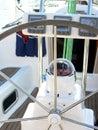Sail boat wheel Royalty Free Stock Photo