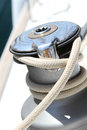 Sail Boat Winch Royalty Free Stock Photo