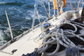 Sail Boat Winch / yachting Royalty Free Stock Photo