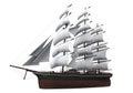 Sail Ship Isolated Royalty Free Stock Photo