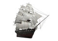 Sail ship isolated on white background d render Stock Image