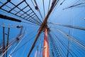 Sail ship mast Royalty Free Stock Photo