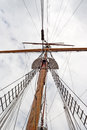 Sail ship mast of the vintage Stock Photography