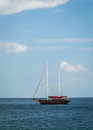 A sailboat at andaman  sea Stock Photography