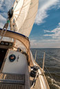 Sailboat on the baltic sea Royalty Free Stock Images