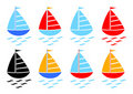 Sailboat collection Royalty Free Stock Image