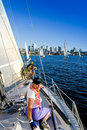 Sailboat Crew Stock Photography