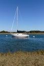 Sailboat Docked Royalty Free Stock Photo