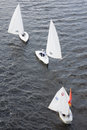 Sailboat floating on the river volga tver russia oct after olympic torch relay october Stock Images