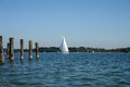 Sailboat on lake chiemsee bavaria germany Royalty Free Stock Photos