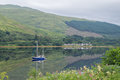 Yacht on Loch Fyne, Scotland Royalty Free Stock Photo