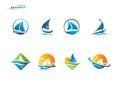 Sailboat logo Royalty Free Stock Photo