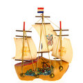 Sailboat made of clog Royalty Free Stock Photos