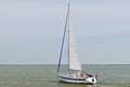 Sailboat in Marken lake Stock Photos
