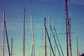 Sailboat mast Royalty Free Stock Photo