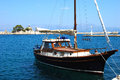 Sailboat in port Royalty Free Stock Photos