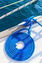 Sailboat rope detail on yacht Stock Image