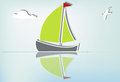 Sailboat serene_Ib Stock Images