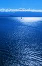 Sailboat Blue Ocean Royalty Free Stock Photo