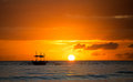 Sailboat sunset fantasy Royalty Free Stock Photo