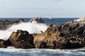 Sailboat on Monterey Bay, California Royalty Free Stock Photo