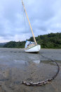 Sailboat without water Royalty Free Stock Photo