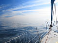 Sailboat yacht sailing in blue sea tourism yachting baltic sky sunny day summer vacation luxury lifestyle Royalty Free Stock Image