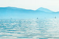 Sailboats in Ionian sea Royalty Free Stock Photo