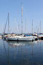 Sailboats at marina Royalty Free Stock Photo