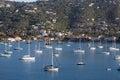 Sailboats Moored in Harbor Royalty Free Stock Photo